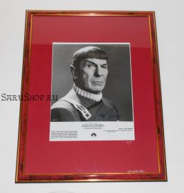 Автограф: Леонард Нимой. Star Trek / Звездный путь. Фото 1989 года. Редкость