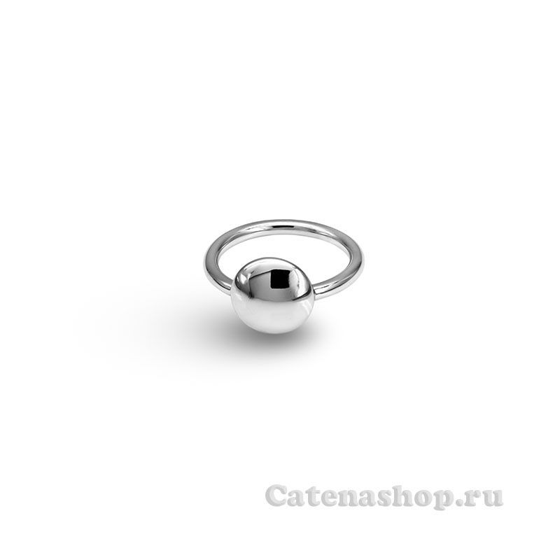 "Кольцо серебряное ""Круг гладкий"""