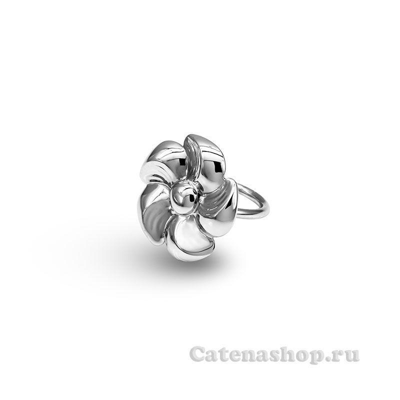 """Кольцо серебряное """"Азалия """""""