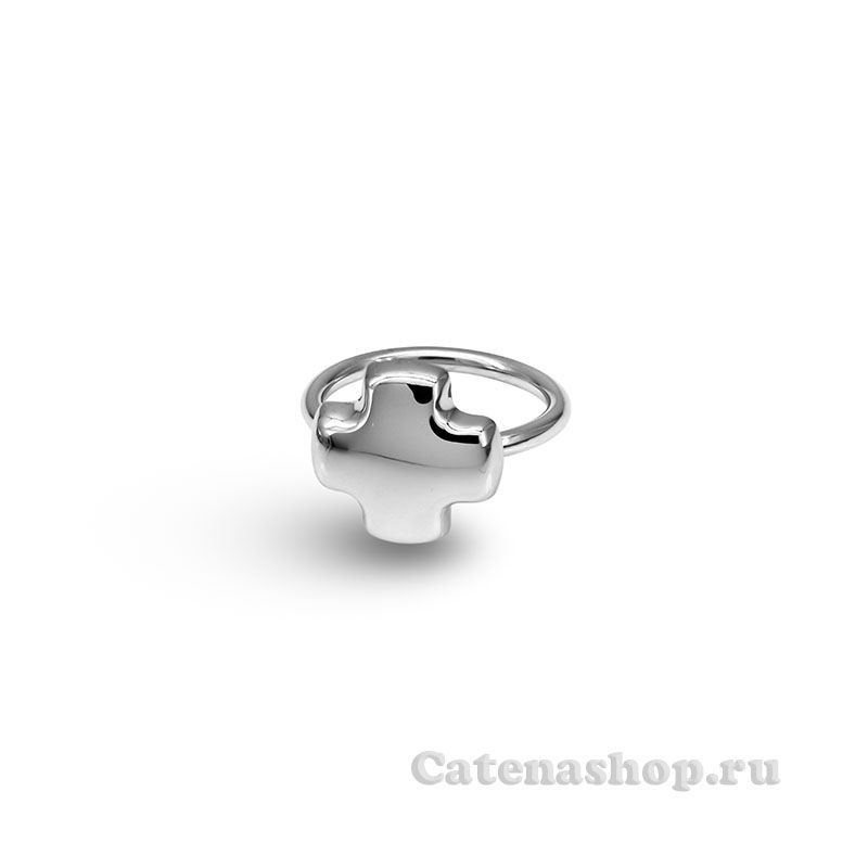"Кольцо  серебряное ""Крестик"""
