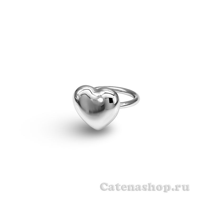 "Кольцо серебряное ""Сердечко"""