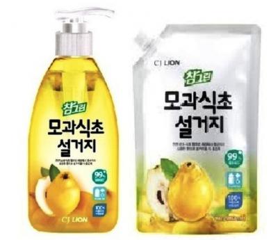 Корейское средство для посуды фруктов и овощей Chamgreen - Айва CJ Lion
