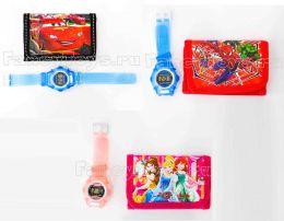 Набор Детский кошелек + электронные часы