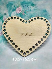 Дно для корзины Сердце 19*16 см фанера 3 мм