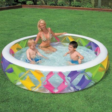 Детский надувной бассейн Intex 56494 «Колесо», 229 х 56 см