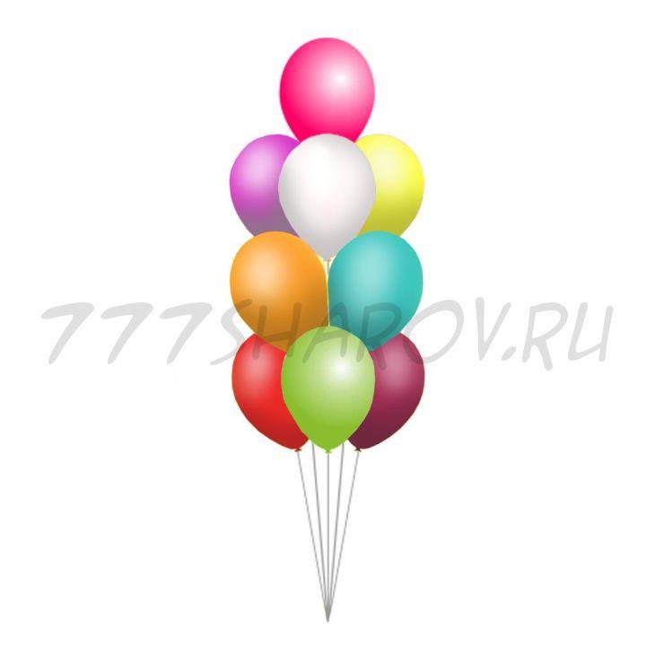 Фонтан из 10 шаров 30 см ассорти