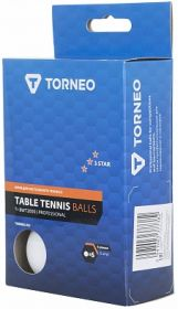 Мячи для настольного тенниса 3*** Torneo, 6 шт TI-BWT2000