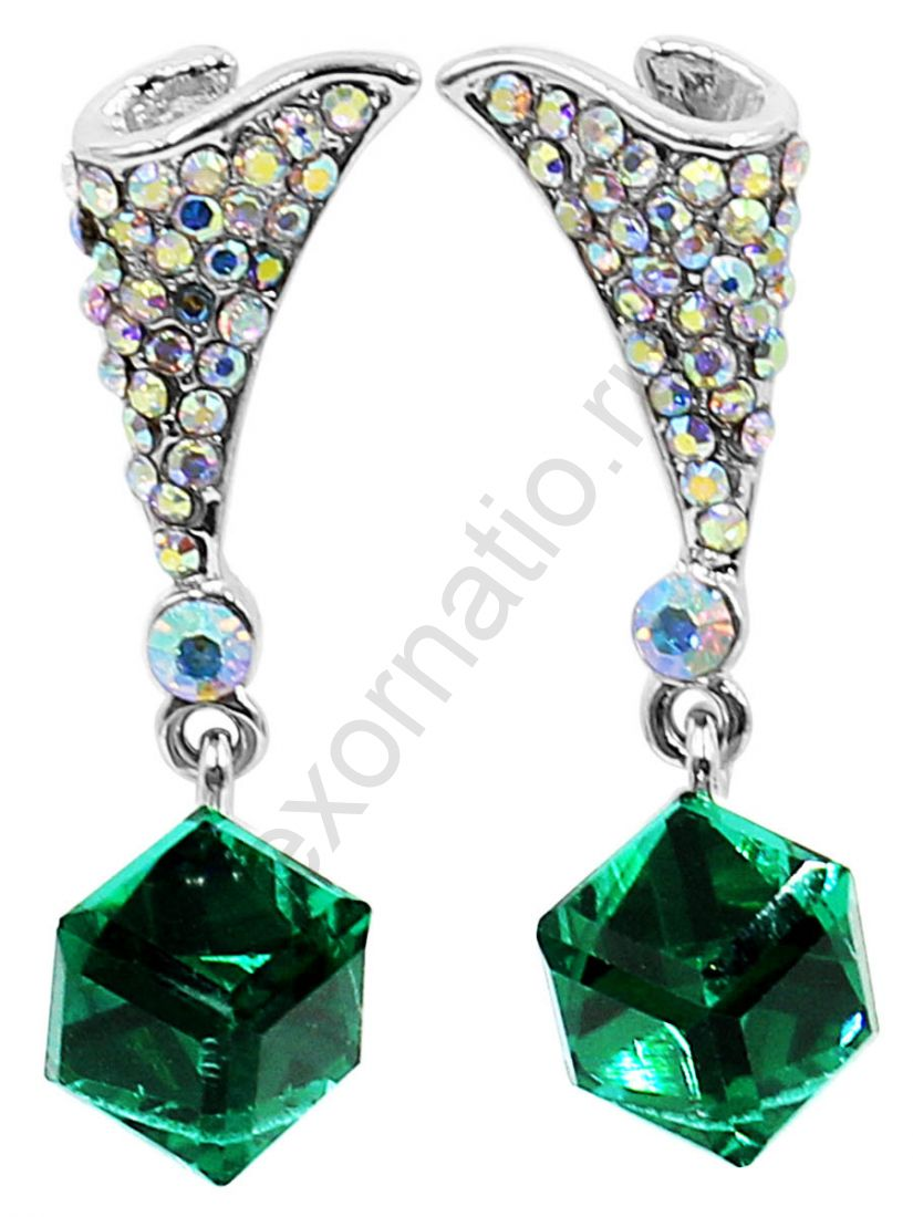 Серьги Taya LX. T-B-12473-EARR-ML.GREEN