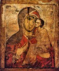 Икона Старорусская Божия Матерь (Умиление) 13 век