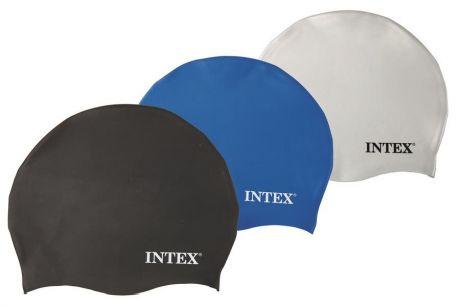 Шапочка для плавания Intex 55991 силикон 8+лет 3 цвета 20см