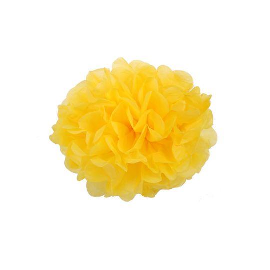 Помпон желтый 30-35 см