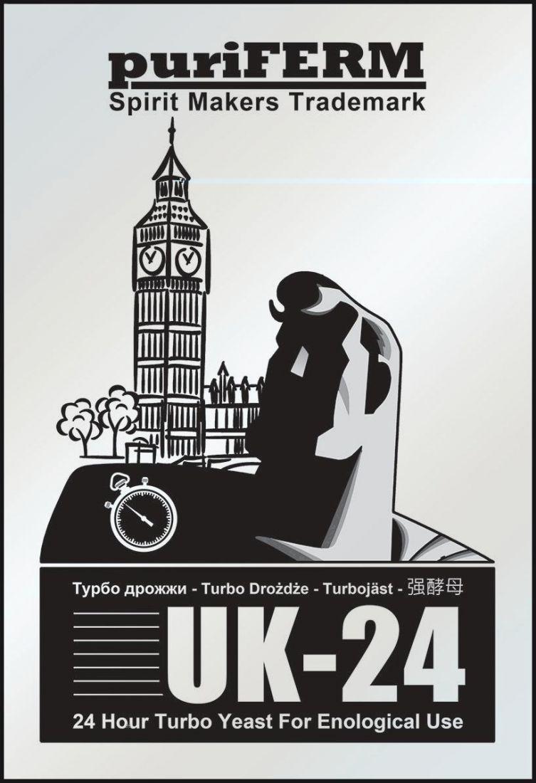 Турбо дрожжи Puriferm UK-24, до 30.04.22