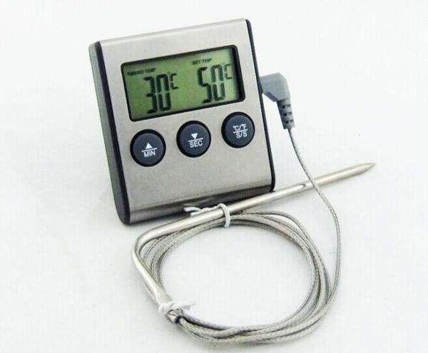 Цифровой термометр с выносным датчиком и звуковым сигналом