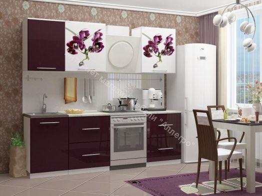 Кухонный гарнитур Миф Орхидея 1 (1,7 м)