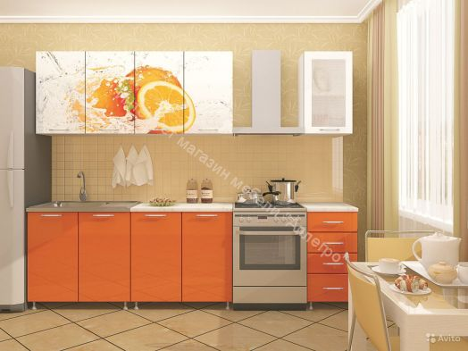 Кухонный гарнитур Миф Апельсин 1,7 м