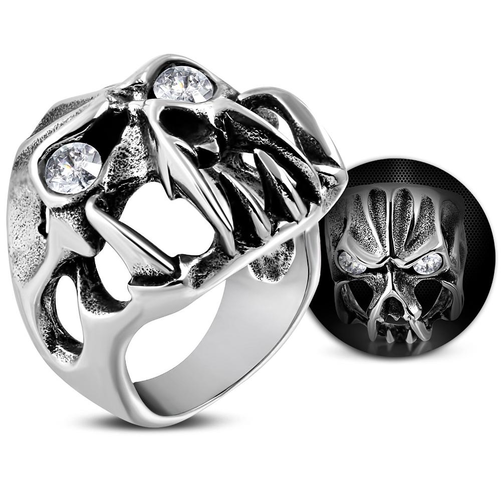 Стальной перстень Череп