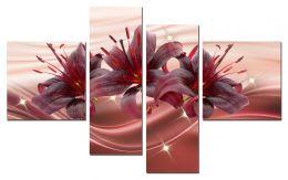 Лилии бордо