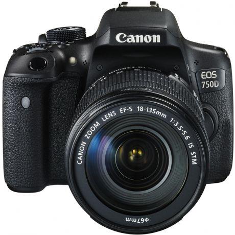 зеркальная фотокамера Canon EOS 750D Kit 18-135 IS STM