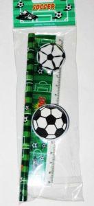 Набор Футбол (карандаш, точилка, ластик, линейка)