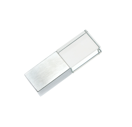 4GB USB-флэш накопитель Apexto UG-001 стеклянный, зеленый LED