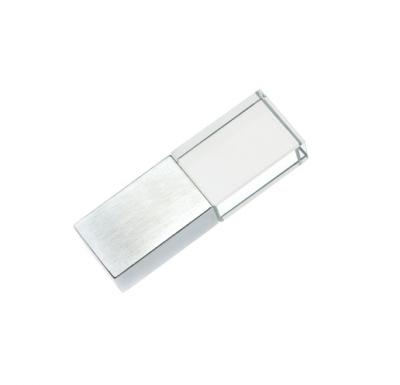 32GB USB-флэш накопитель Apexto UG-001 стеклянный, белый LED
