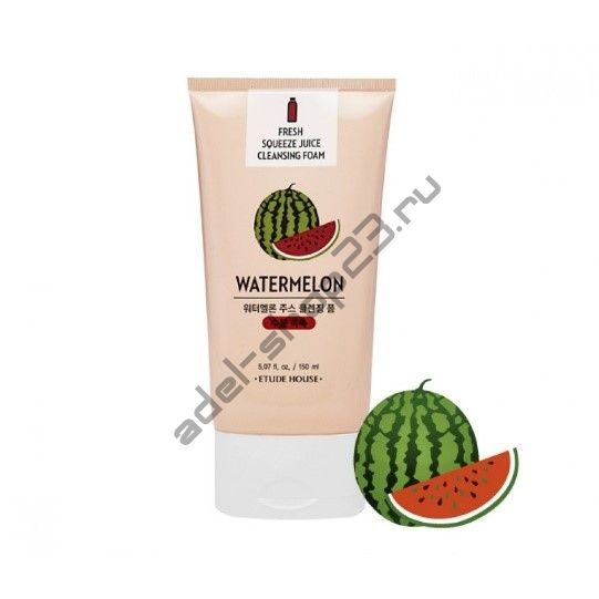 Etude House - Пенка Fresh Squeeze Juice Cleansing Foam Watermelon 150ml
