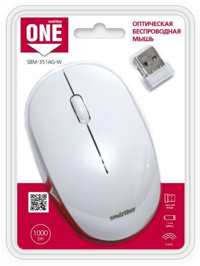 Мышь беспроводная Smartbuy ONE 351 белая