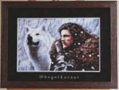 "Cross stitch pattern ""Lord Snow""."