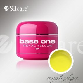 Цветной гель Silcare Base One Color Royal Yellow *01 5 гр.