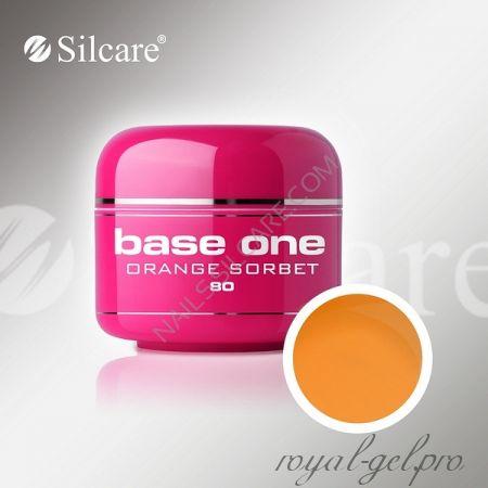 Цветной гель Silcare Base One Color Orange Sorbet *80 5 гр.