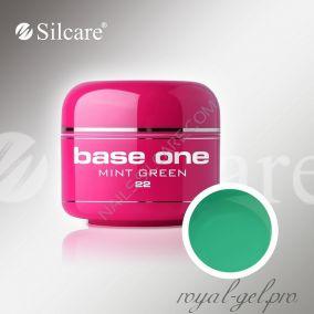 Цветной гель Silcare Base One Color Mint Green *22 5 гр.