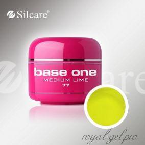 Цветной гель Silcare Base One Color Medium Lime *77 5 гр.