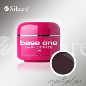 Цветной гель Silcare Base One Color Dark Coffee *72 5 гр.