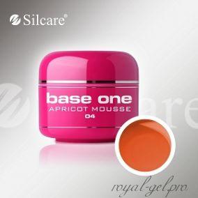 Цветной гель Silcare Base One Color Apricot Mousse *04 5 гр.