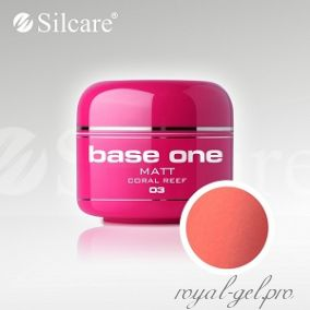 Цветной гель Silcare Base One Matt Coral Reef *03 5 гр.