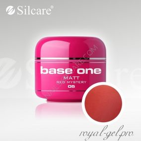 Цветной гель Silcare Base One Matt Red Mystery *05 5 гр.