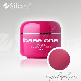Цветной гель Silcare Base One Matt Amaranth Kiss *07 5 гр.
