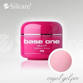 Цветной гель Silcare Base One Matt Cream Pink *08 5 гр.