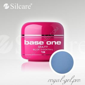 Цветной гель Silcare Base One Matt Blue Cocktail *16 5 гр.