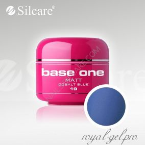 Цветной гель Silcare Base One Matt Cobalt Blue *19 5 гр.