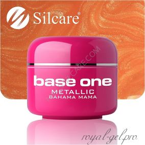 Цветной гель Silcare Base One Metallic Bahama Mama *27 5 гр.