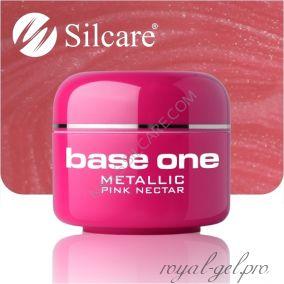 Цветной гель Silcare Base One Metallic Pink Nectar *29 5 гр.