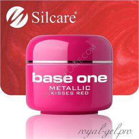 Цветной гель Silcare Base One Metallic Kissed Red *31 5 гр.
