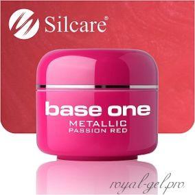 Цветной гель Silcare Base One Metallic Passion Red *32 5 гр.