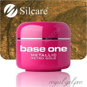 Цветной гель Silcare Base One Metallic Retro Gold *39 5 гр.