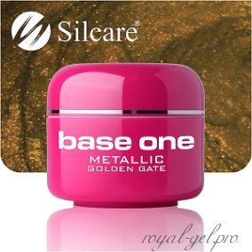 Цветной гель Silcare Base One Metallic Golden Gate *40 5 гр.