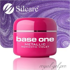 Цветной гель Silcare Base One Metallic Romantic Violet *42 5 гр.