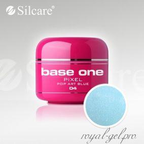 Цветной гель Silcare Base One Pixel Pop Art Blue *04 5 гр.