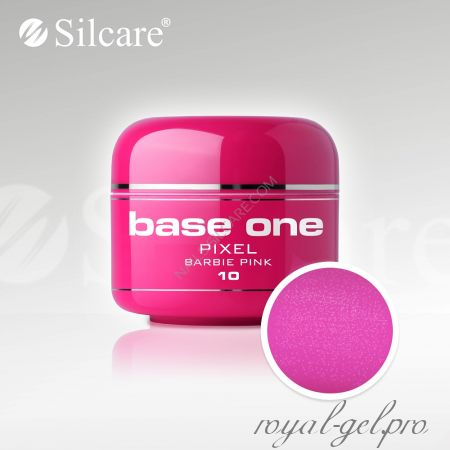 Цветной гель Silcare Base One Pixel Barbie Pink *10 5 гр.