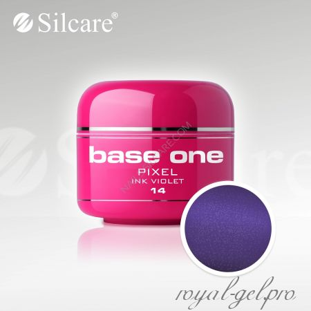 Цветной гель Silcare Base One Pixel Ink Violet *14 5 гр.